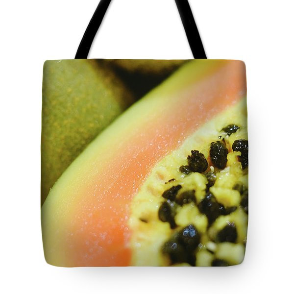 Group Of Fruits Papaya, Grape, Kiwi And Bananas Tote Bag