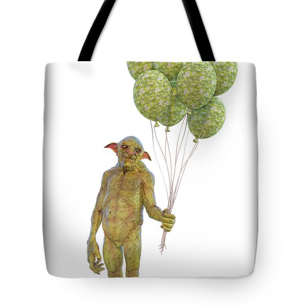 Grumpy Troll Smiling Peace Offering Tote Bag