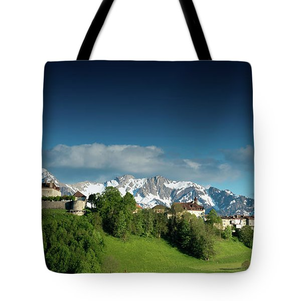 Gruyeres Castle Panorama Tote Bag