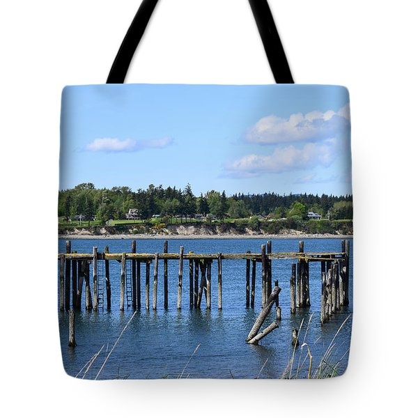 Guemes Island And Old Pier Tote Bag
