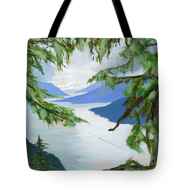 Guided Through The Fjords Tote Bag