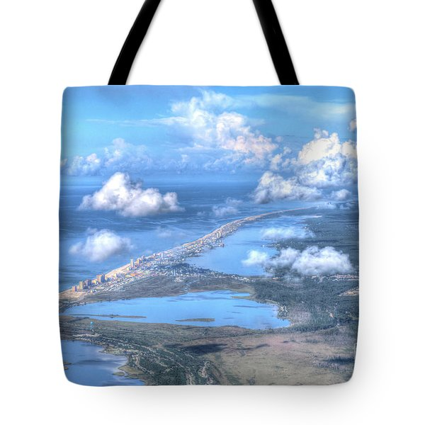 Tote Bag featuring the photograph Gulf Shores-5094-tm by Gulf Coast Aerials -