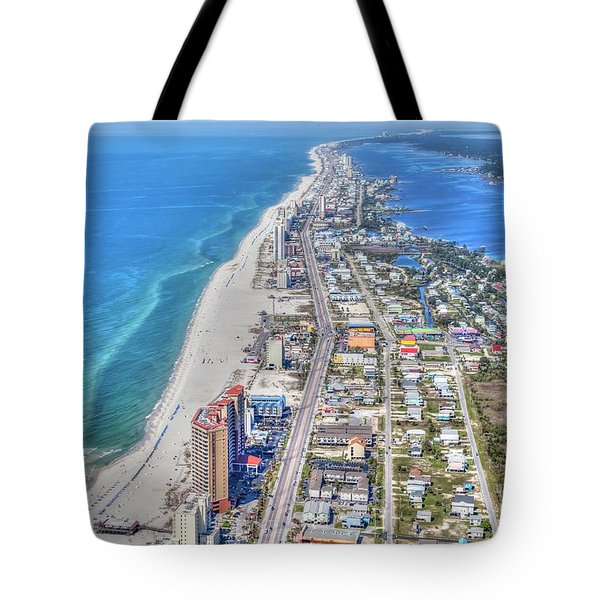 Tote Bag featuring the photograph Gulf Shores 7124 by Gulf Coast Aerials -