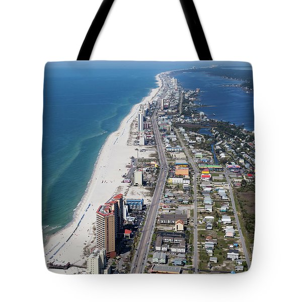 Tote Bag featuring the photograph Gulf Shores 7124n by Gulf Coast Aerials