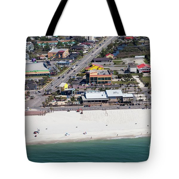Tote Bag featuring the photograph Gulf Shores Beach 7139 by Gulf Coast Aerials -