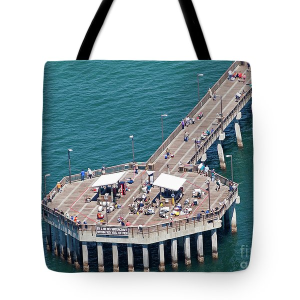 Tote Bag featuring the photograph Gulf State Park Pier 7467 by Gulf Coast Aerials -