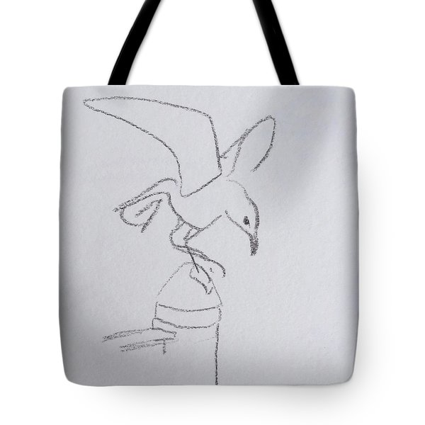 Gull On Pier Tote Bag