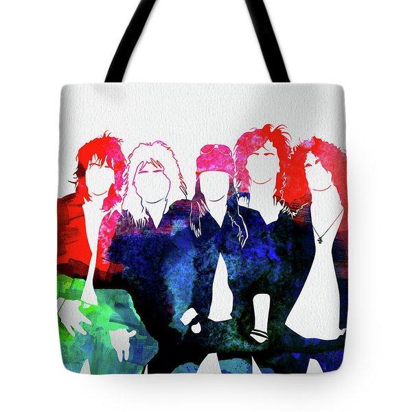 Guns N' Roses Watercolor Tote Bag