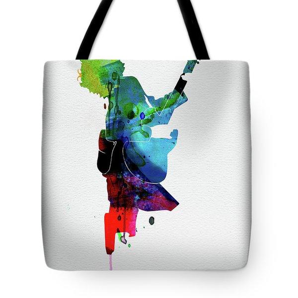 Guns Watercolor Tote Bag