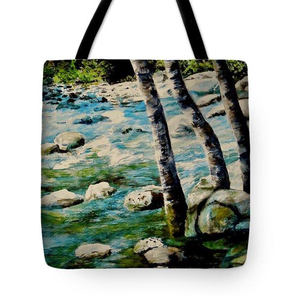 Gushing Waters Tote Bag