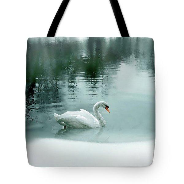 Cyan Winter Tote Bag