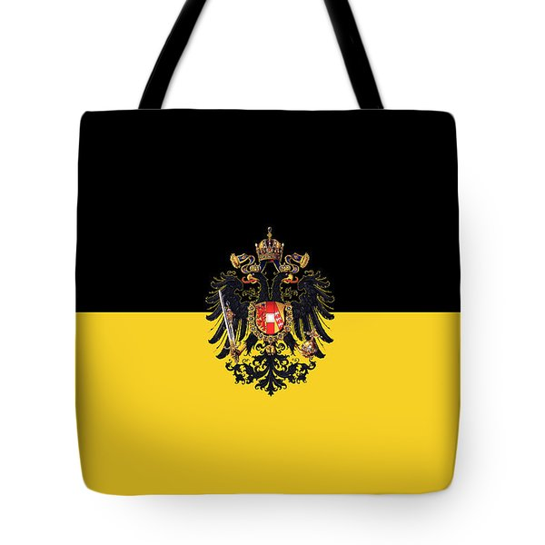 Habsburg Flag With Small Imperial Coat Of Arms Tote Bag