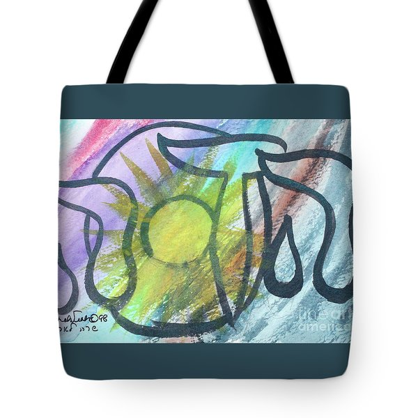 Tote Bag featuring the painting Hadassah Nf2-56 by Hebrewletters Sl