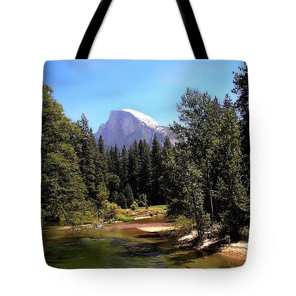Half Dome From Ahwanee Bridge - Yosemite Tote Bag