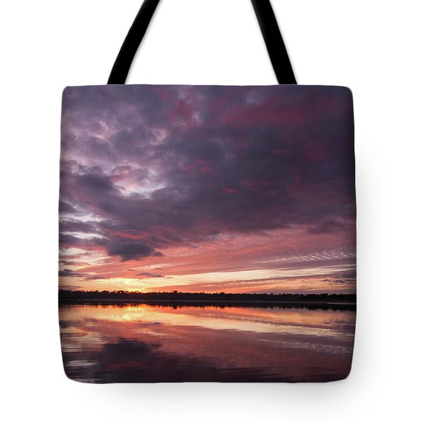 Halifax River Sunset Tote Bag