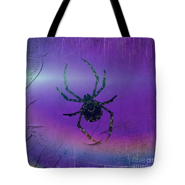 Tote Bag featuring the mixed media Halloween Spider Dream by Rachel Hannah