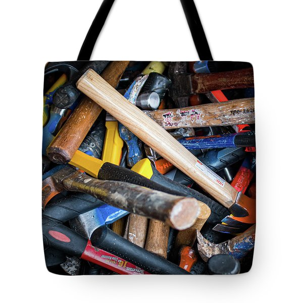 Tote Bag featuring the photograph Hammers by Jeff Phillippi