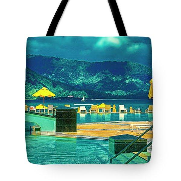 Tote Bag featuring the photograph Hanalei Bay Bali Hai Hawaii by Tom Jelen