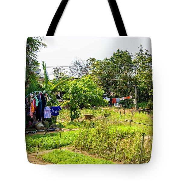 Hanging Out To Dry In Vietnam Tote Bag