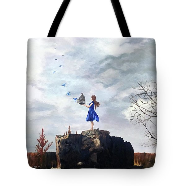 Happiness Released Tote Bag