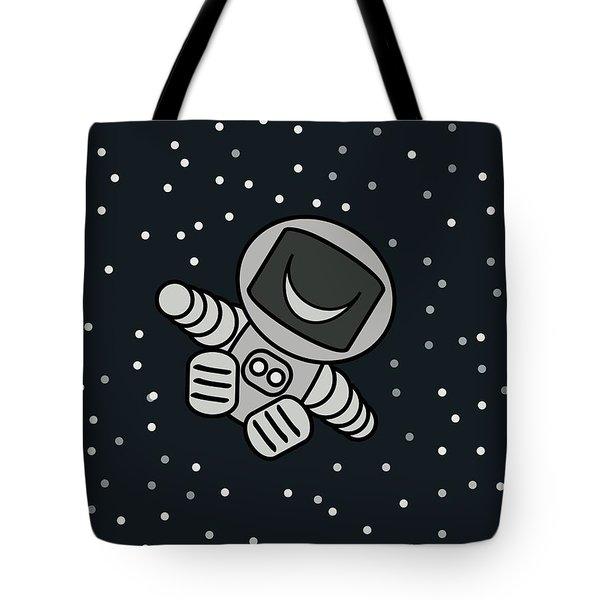 Happy Astronaut Tote Bag