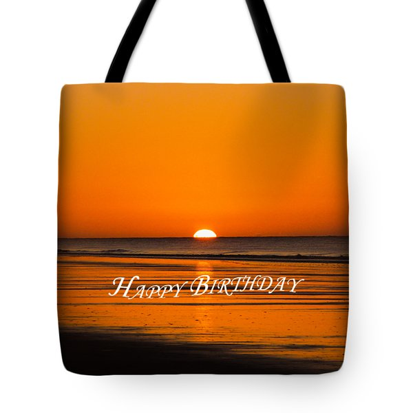 Happy Birthday At The Beach Tote Bag