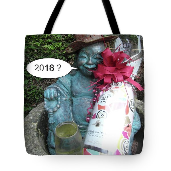 Tote Bag featuring the painting Christmas Wishes To Everyone by Val Byrne