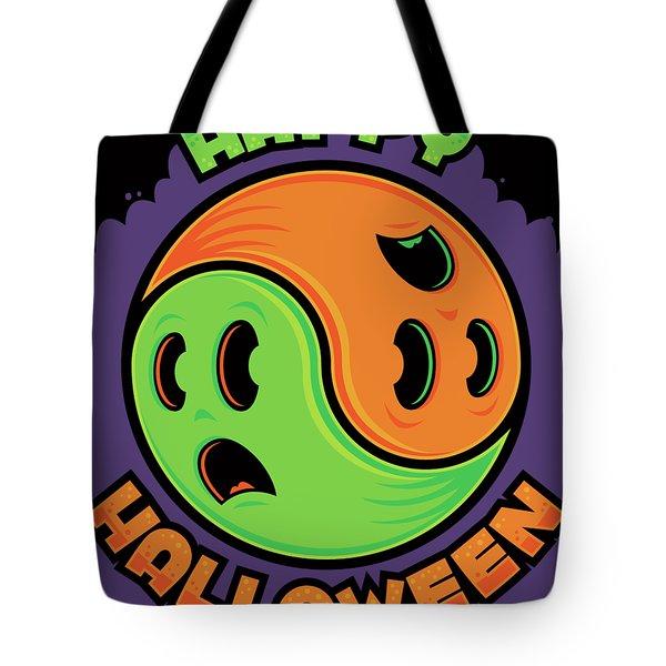 Happy Halloween Ghost Yin-yang Tote Bag