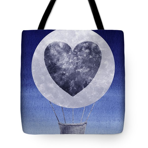 Happy Heart Hot Air Balloon Watercolor Ix Tote Bag
