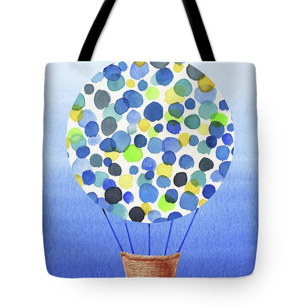 Happy Hot Air Balloon Watercolor II Tote Bag