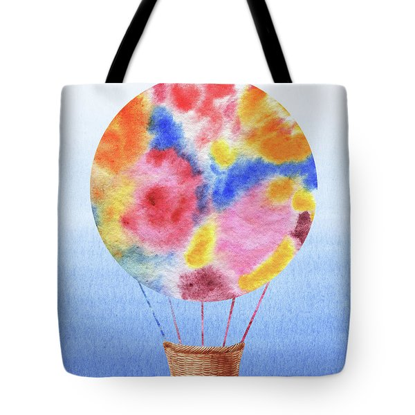 Happy Hot Air Balloon Watercolor IIi Tote Bag