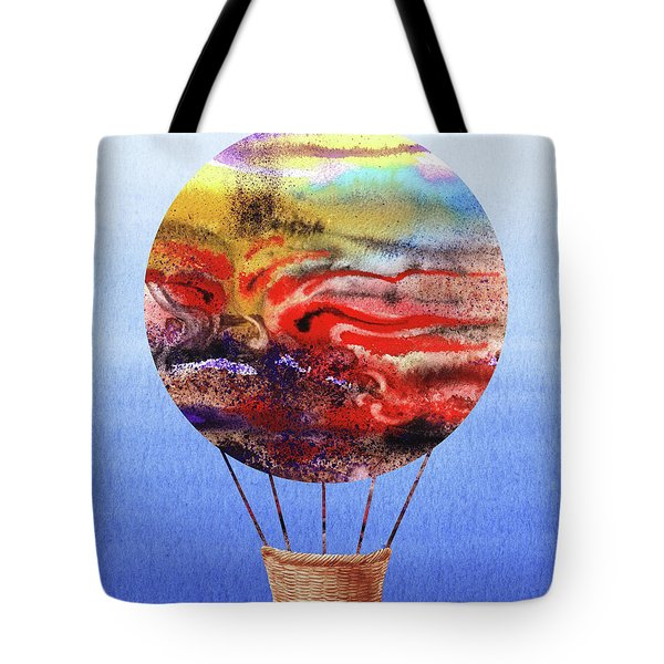Happy Hot Air Balloon Watercolor Iv Tote Bag