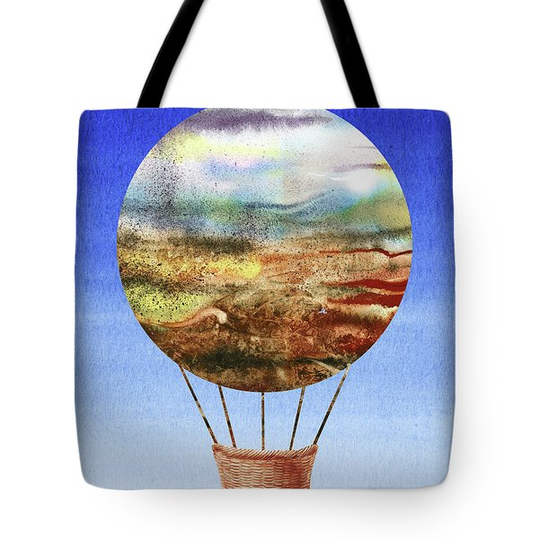 Happy Hot Air Balloon Watercolor Ix Tote Bag