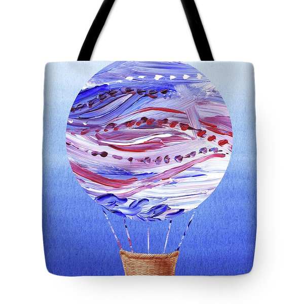 Happy Hot Air Balloon Watercolor V Tote Bag