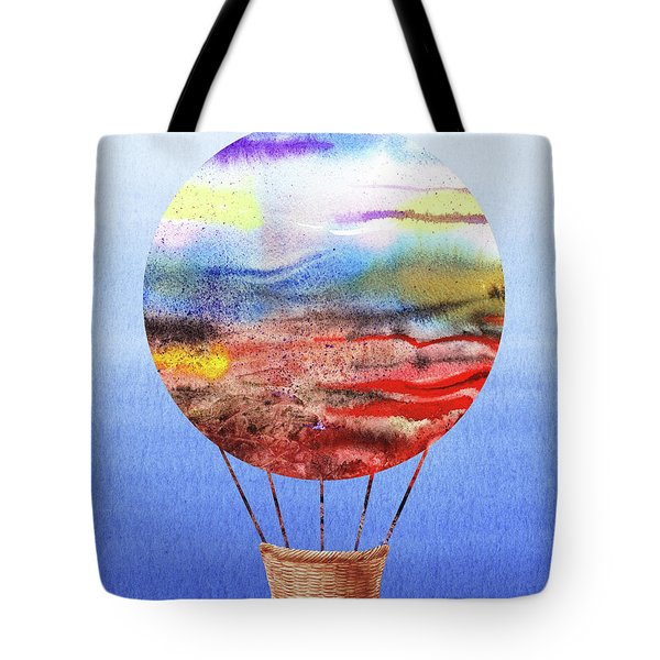 Happy Hot Air Balloon Watercolor Vi Tote Bag