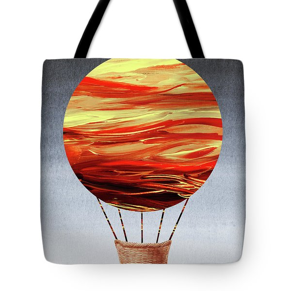 Happy Hot Air Balloon Watercolor Vii  Tote Bag
