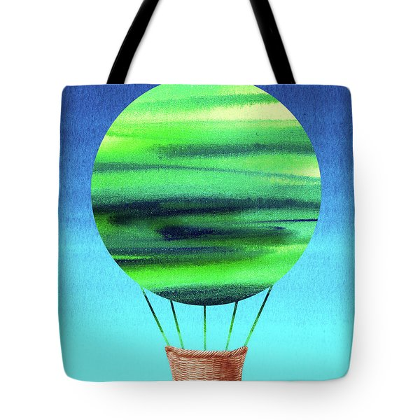 Happy Hot Air Balloon Watercolor Viii  Tote Bag