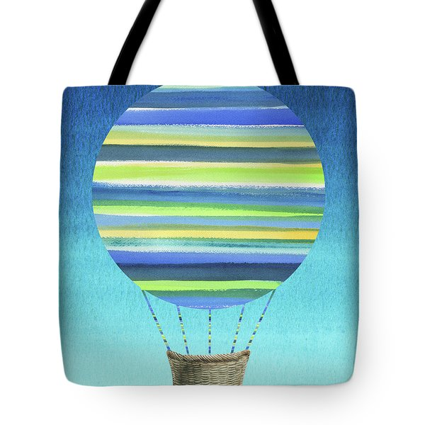 Happy Hot Air Balloon Watercolor Xi Tote Bag