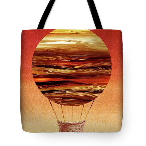 Happy Hot Air Balloon Watercolor Xii Tote Bag