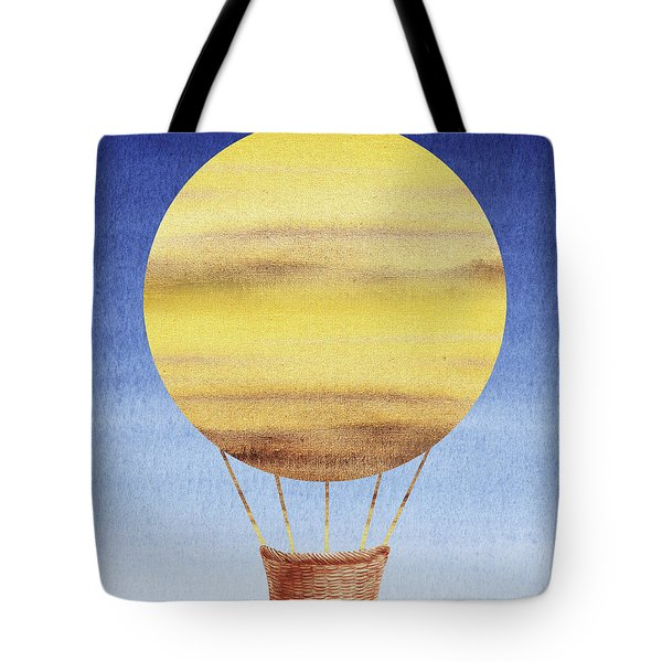 Happy Hot Air Balloon Watercolor Xiv Tote Bag