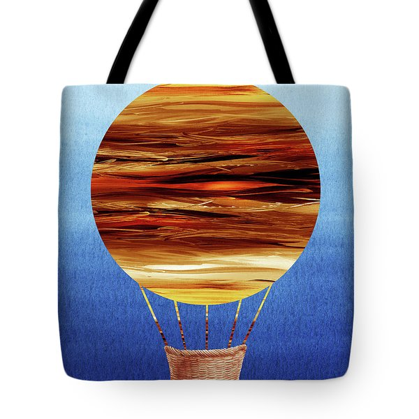 Happy Hot Air Balloon Watercolor Xv Tote Bag