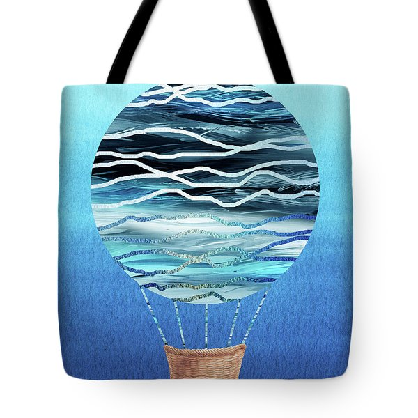 Happy Hot Air Balloon Watercolor Xvii Tote Bag