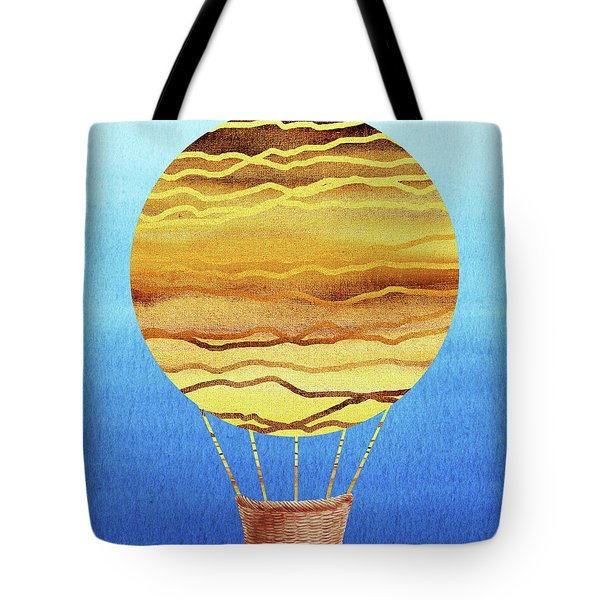 Happy Hot Air Balloon Watercolor Xviii Tote Bag