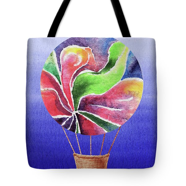 Happy Hot Air Balloon Watercolor Xxv Tote Bag