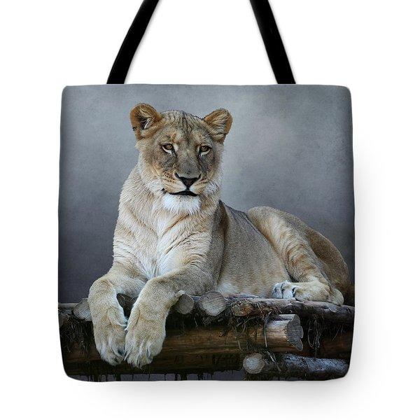 Happy Lioness Tote Bag