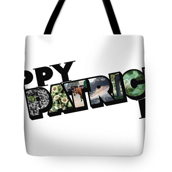 Happy St. Patrick's Day Big Letter Tote Bag