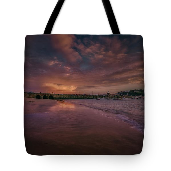 Harbour Sunset - St Ives Cornwall Tote Bag