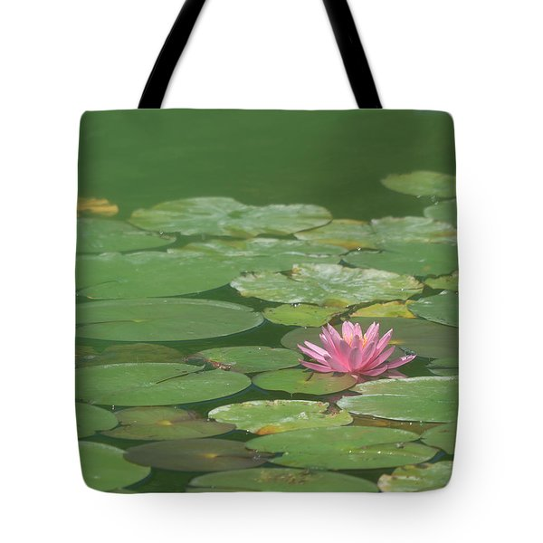 Harmonious Pink Waterlily Tote Bag