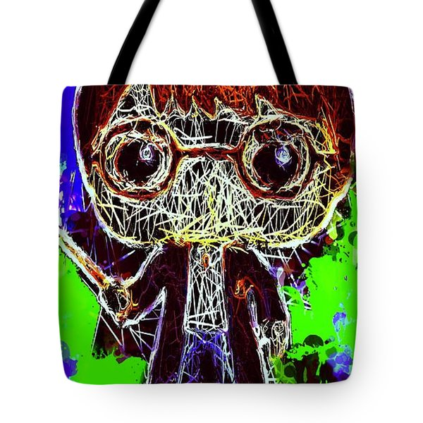 Tote Bag featuring the mixed media Harry Potter Pop by Al Matra