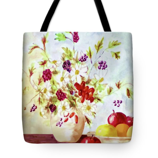 Harvest Time-still Life Painting By V.kelly Tote Bag